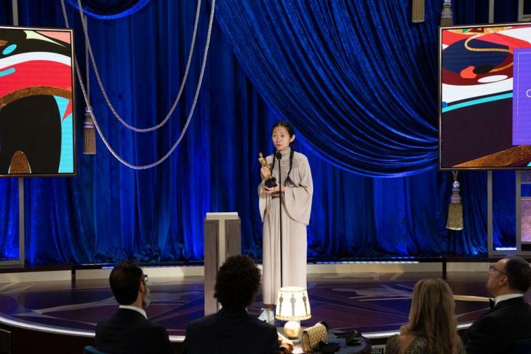 "Chloé Zhao ganó premio a Mejor directora por ""Nomadland"". Foto: AFP PHOTO / ©A.M.P.A.S. / Todd WAWRYCHUK"