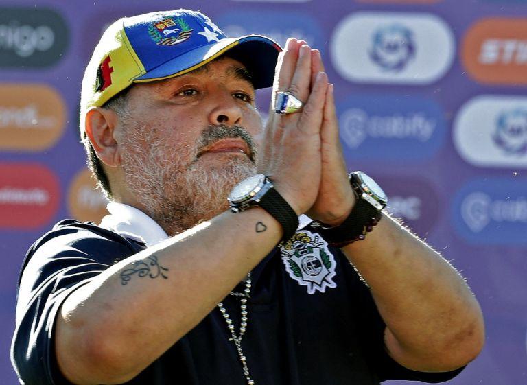 Diego Maradona fue campeón mundial con Argentina como jugador. Décadas después fue técnico de la selección de su país. Foto: AFP.