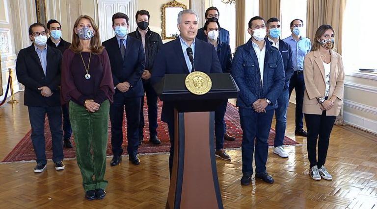 Duque retira proyecto de reforma tributaria. Foto: Presidencia de Colombia