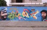 Otra caricatura en un rincón de Guayaquil. Fuente: chavodelocho.com