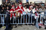 Palestinos en un evento navideño. Foto: AFP