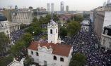 El mitin reunió a decena de miles de personas. Foto: AFP