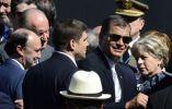 El presidente Rafael Correa a su llegada a la ceremonia. Foto: AFP