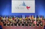 Imagen de la inauguración del encuentro. Foto: AFP