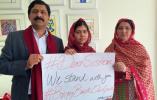 La joven paquistaní Malala Yousafzai, premio Nobel de la Paz, y su familia se solidarizaron con las adolescentes secuestradas. Foto: The Malala Fund