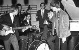 Imagen de su primer show con la banda. Foto: The Rolling Stones