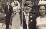 Stephen Hawking junto a su esposa Jane Wilde.