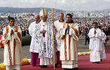 El papa Francisco durante la misa.