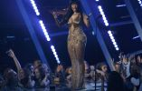 Nicki Minaj en el escenario.