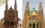 La version de chocolate y la original de Basílica del Sagrado Corazón en Bruselas.