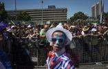 Intérpretes participan en la Ciudad del Cabo trovadores carnaval anual , el 02 de enero de 2016 en Ciudad del Cabo.