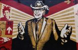 Un mural con el retrato de Tony Goldman es uno de los que destaca en el sitio.