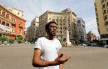"""Mubarak Mashali, 20, estudiante de la Universidad de El Cairo. """"Creo que Trump va a arruinar las cosas y hacerlas peor de lo que ya se encuentran en todo el Oriente Medio"""""""