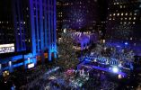 El árbol de Navidad en el Rockefeller Center en la ciudad de Nueva York, Nueva York, EE. UU